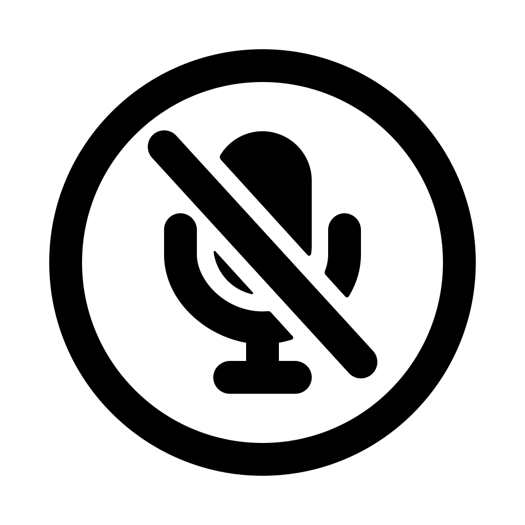 Mic off circle icon