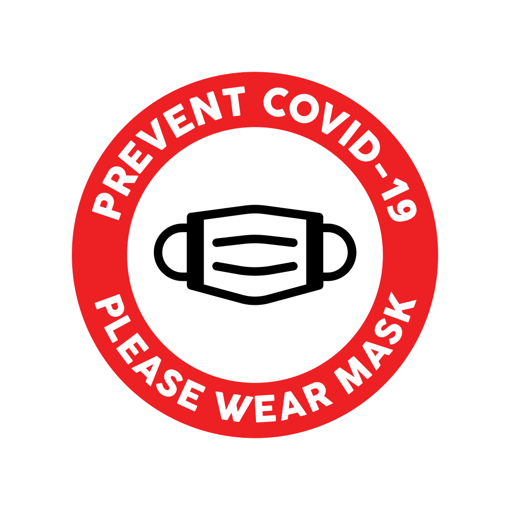 Please wear mask sign printable icon