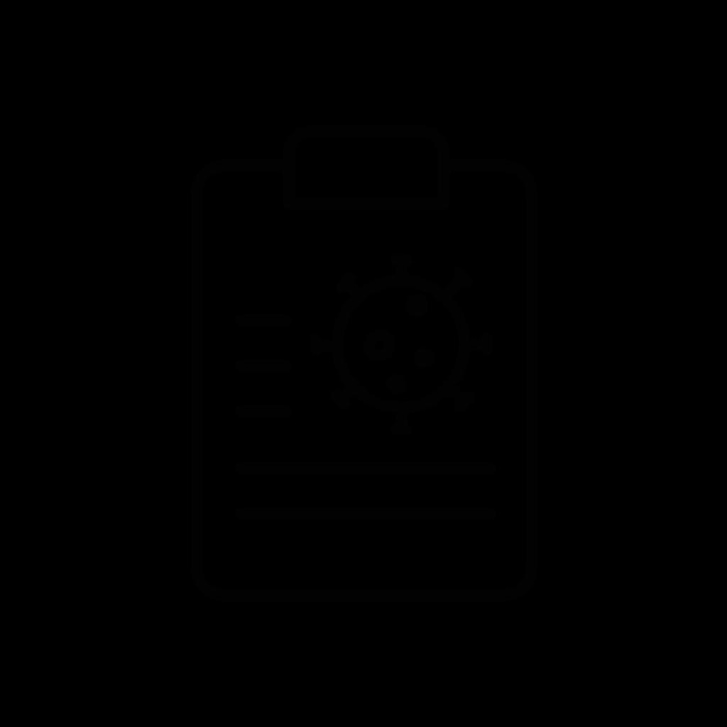 Clipboard covid19 icon