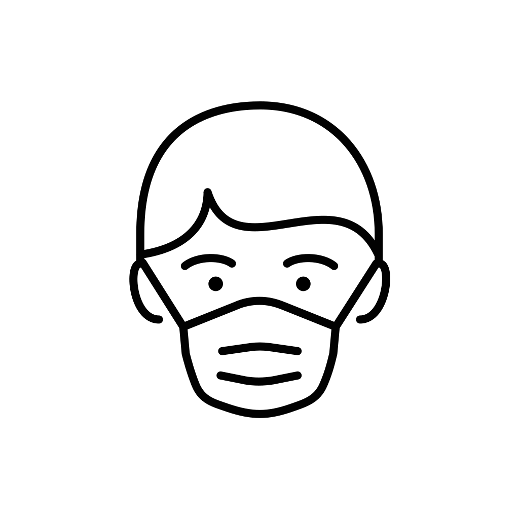 Men with face mask icon