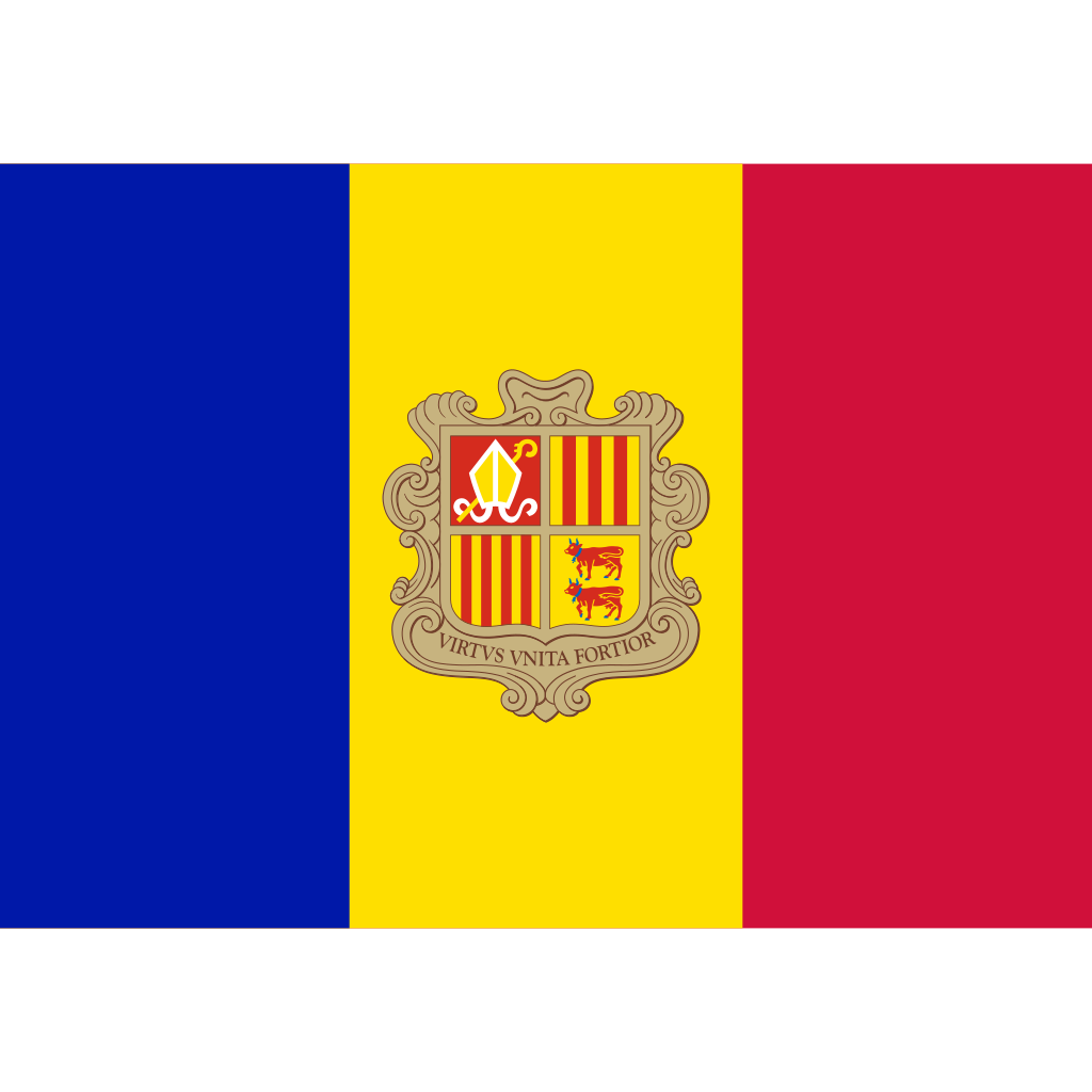 Principality of andorra flag icon