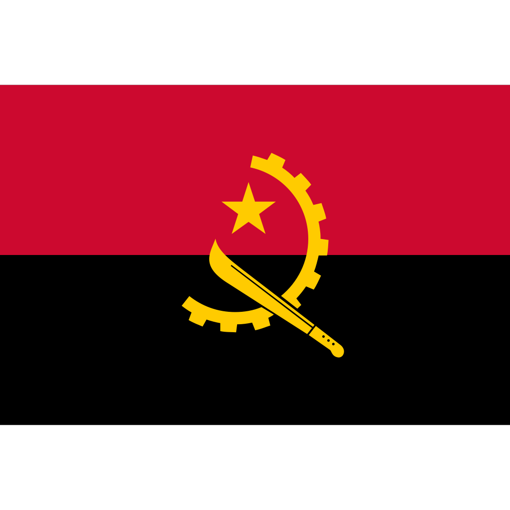 Republic of angola flag icon