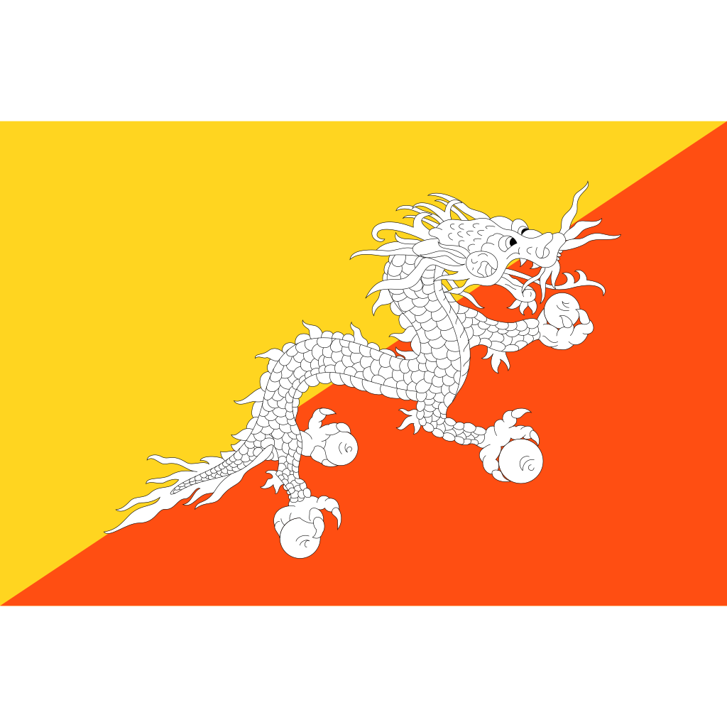 Kingdom of bhutan flag icon