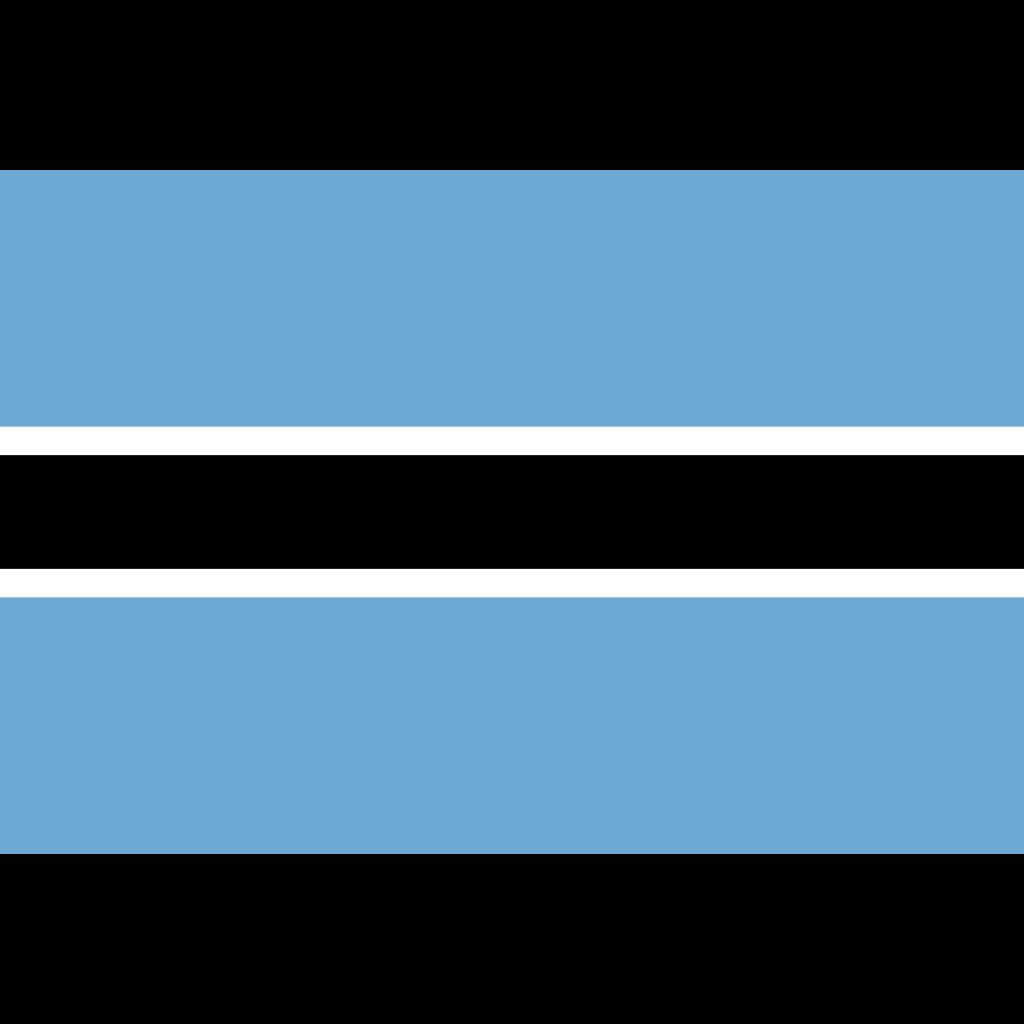 Republic of botswana flag icon