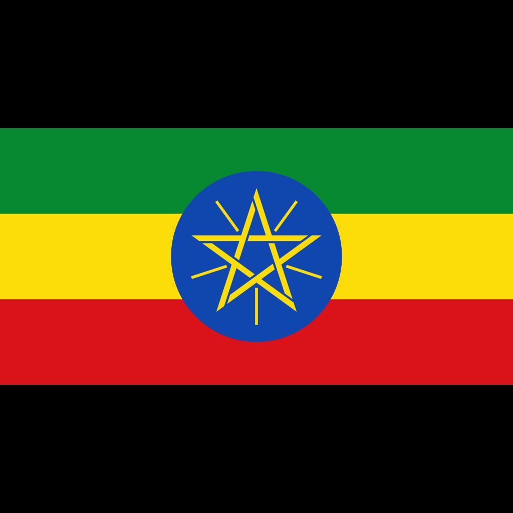 Federal democratic republic of ethiopia flag icon