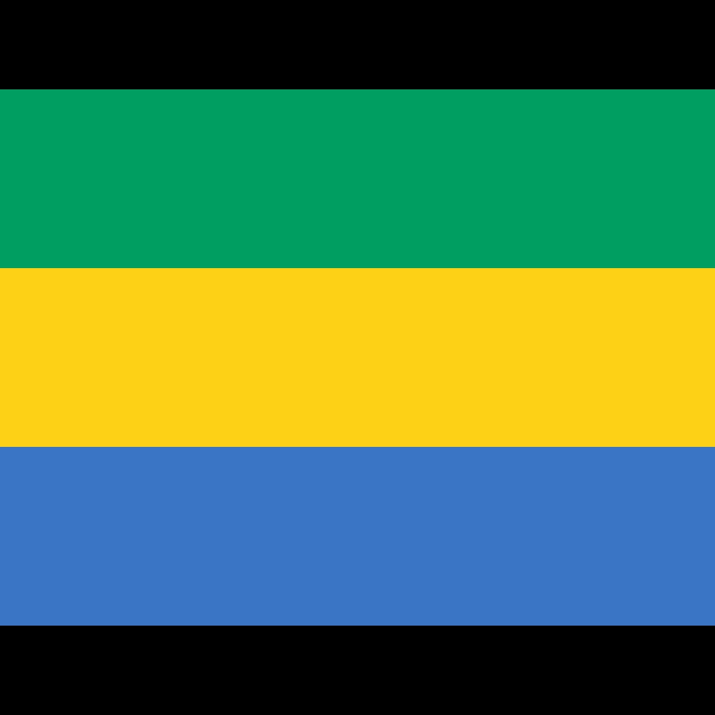 Gabonese republic flag icon
