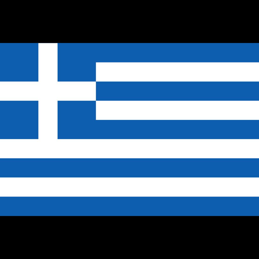 Hellenic republic of greece flag icon