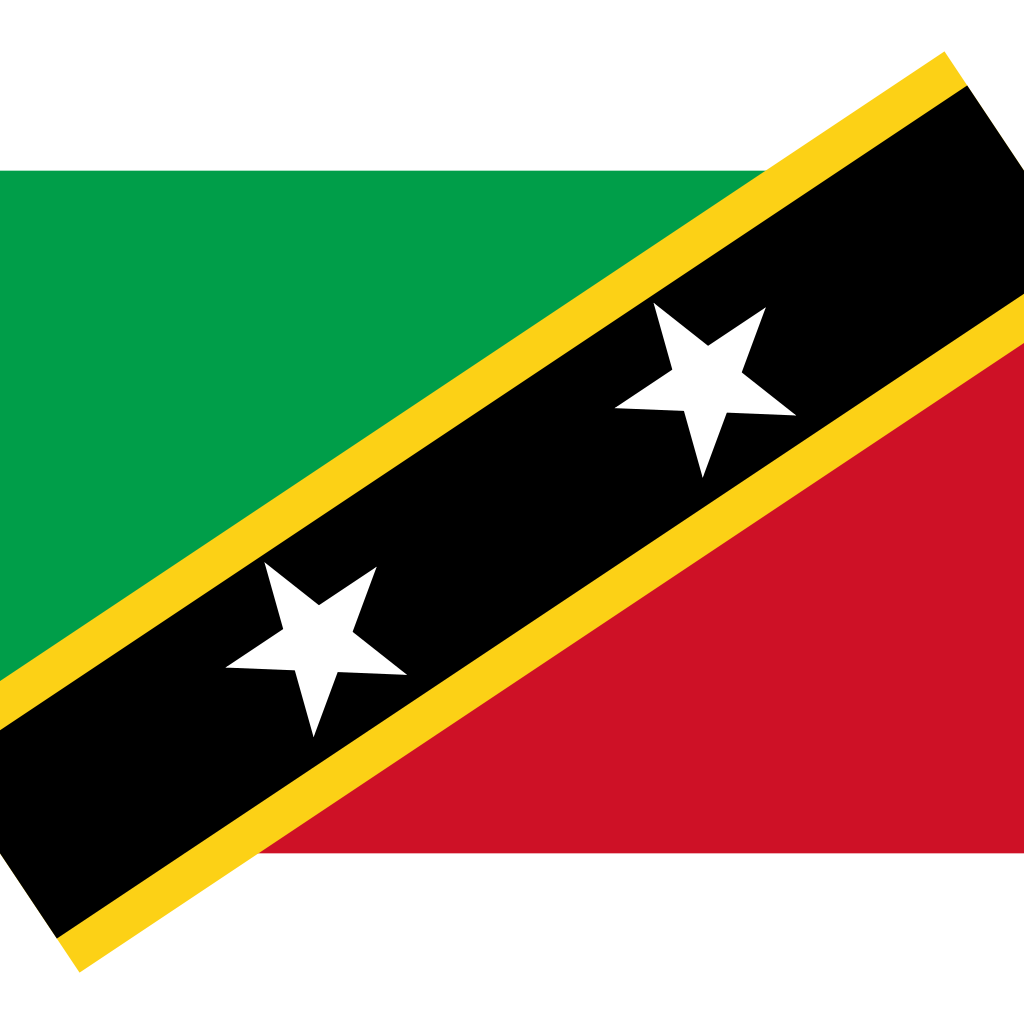 Federation of saint kitts and nevis flag icon