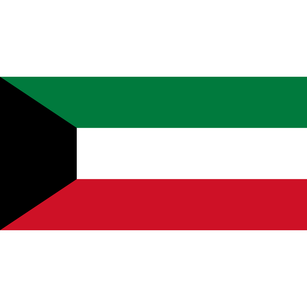 State of kuwait flag icon