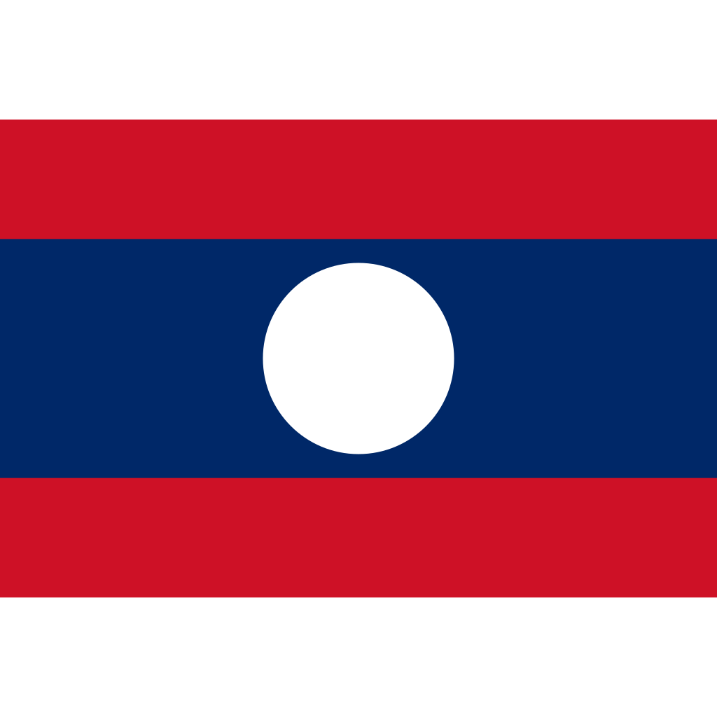 Lao people's democratic republic flag icon