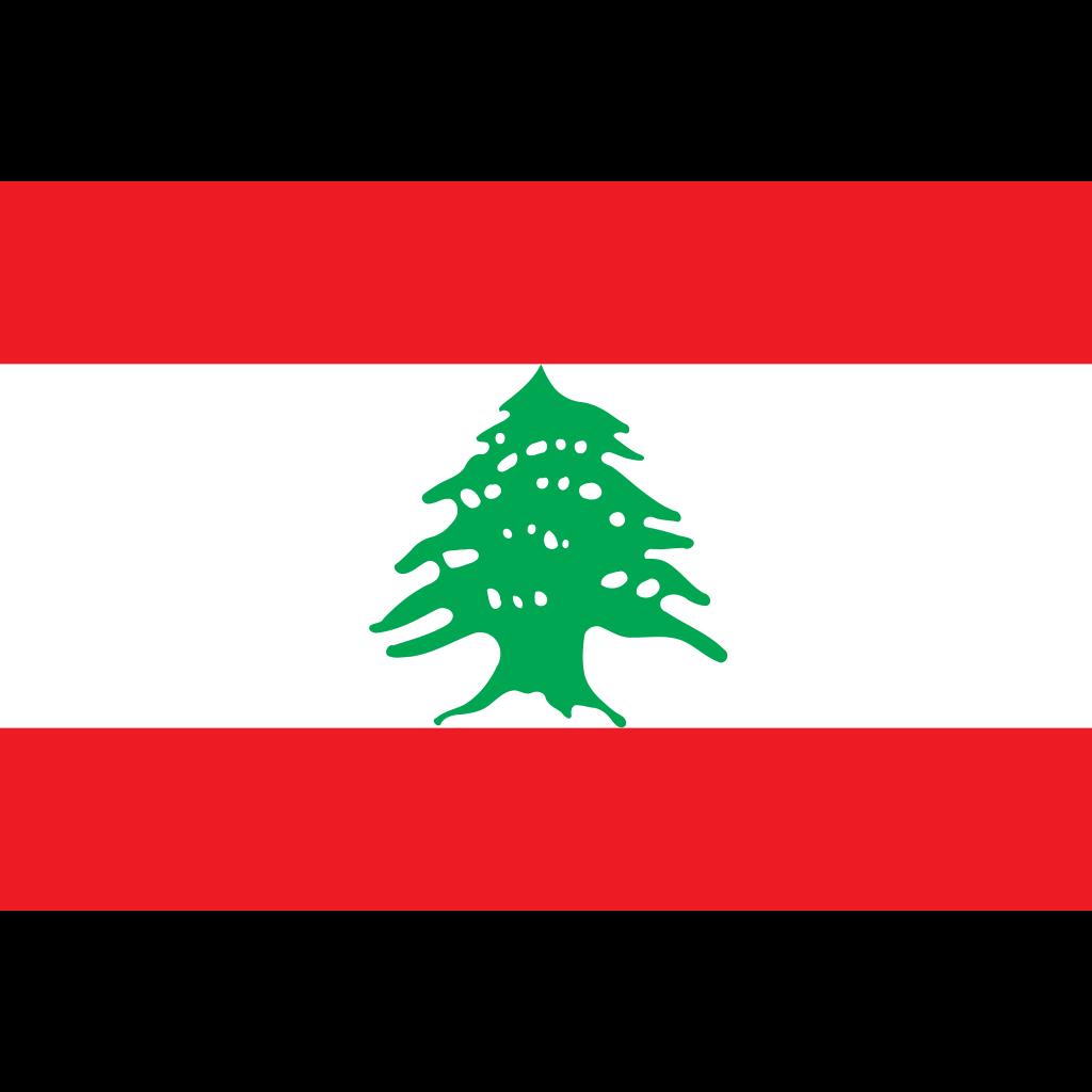 Lebanese republic flag icon