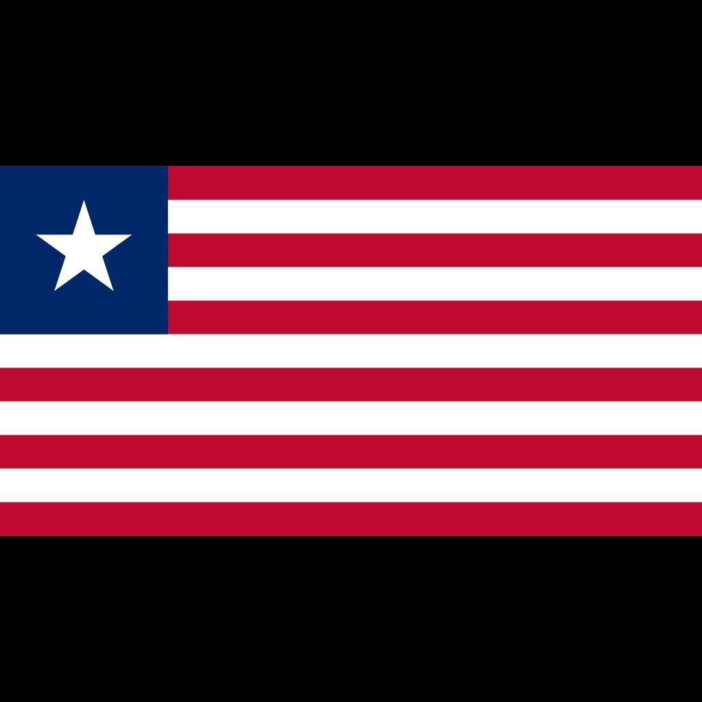 Republic of liberia flag icon