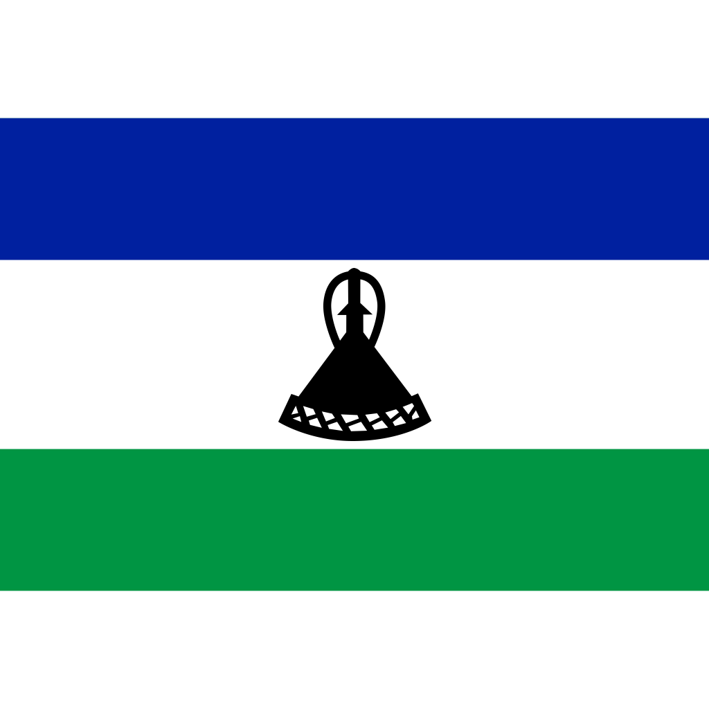 Kingdom of lesotho flag icon