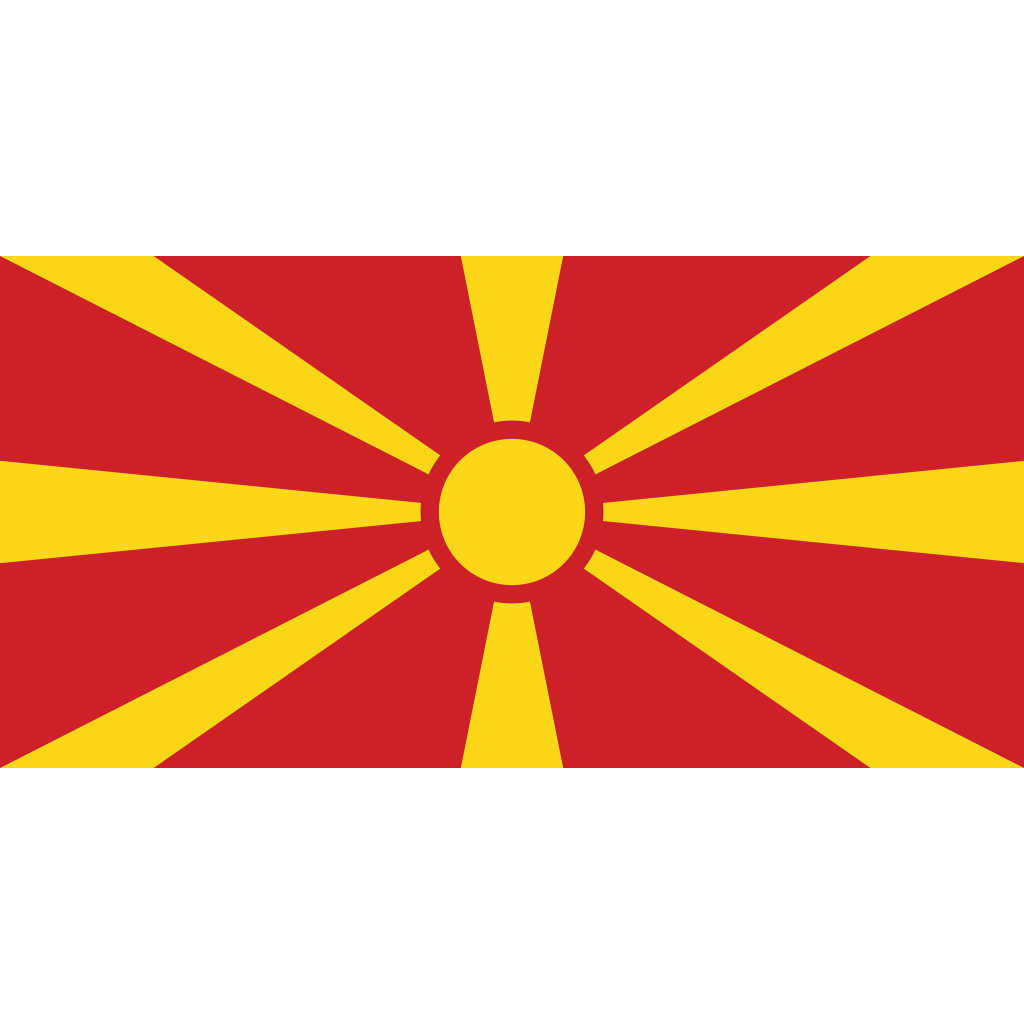 Republic of north macedonia flag icon