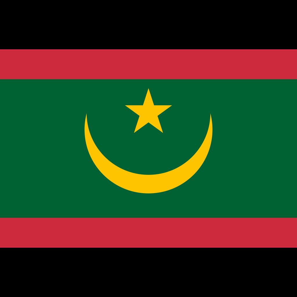 Islamic republic of mauritania flag icon
