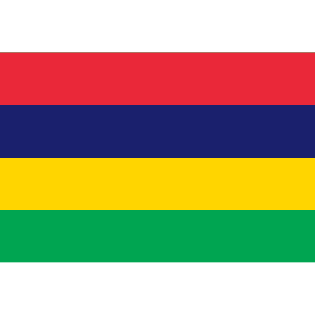 Republic of mauritius flag icon
