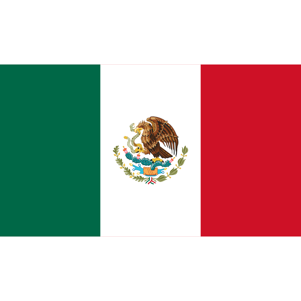 United mexican states flag icon