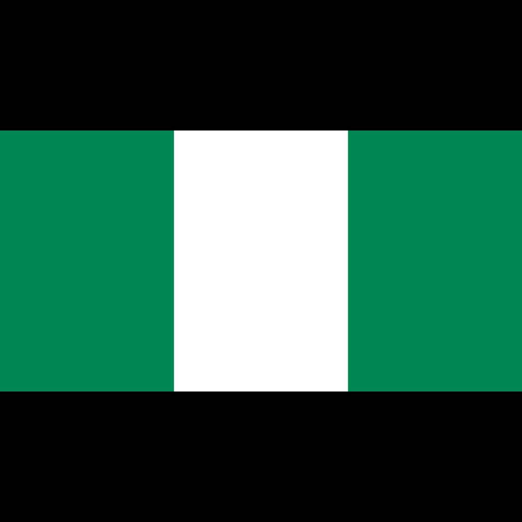 Federal republic of nigeria flag icon