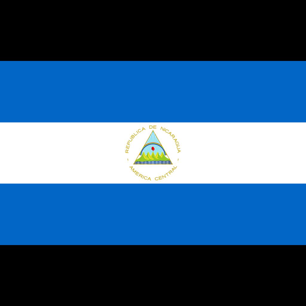 Republic of nicaragua flag icon