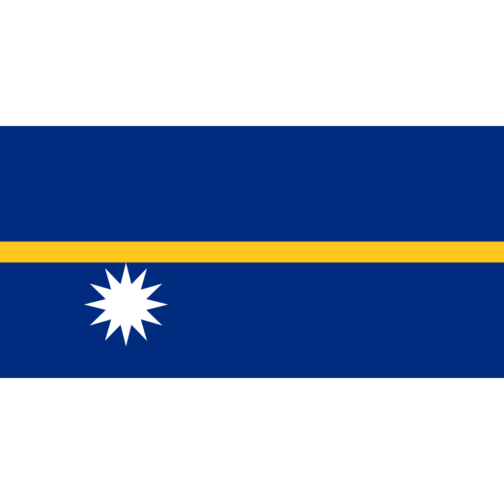 Republic of nauru flag icon
