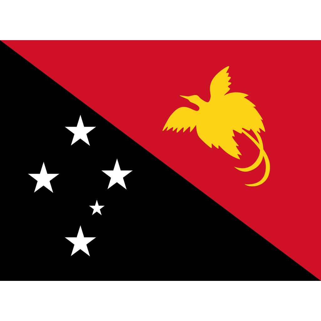 Independent state of papua new guinea flag icon