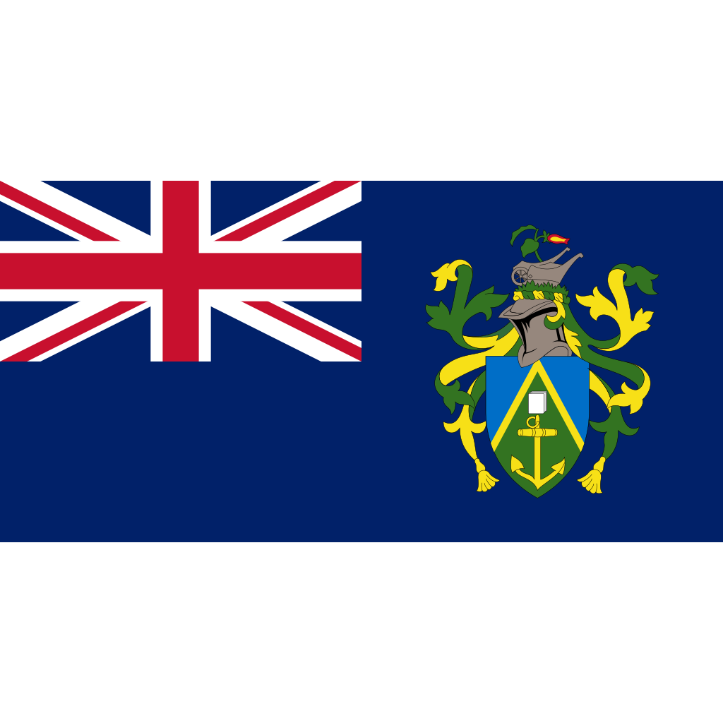 Pitcairn islands flag icon