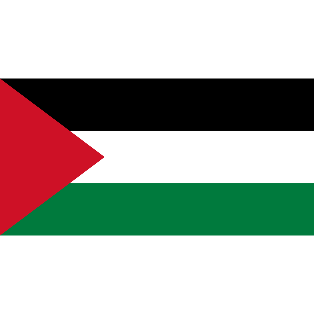 State of palestine flag icon