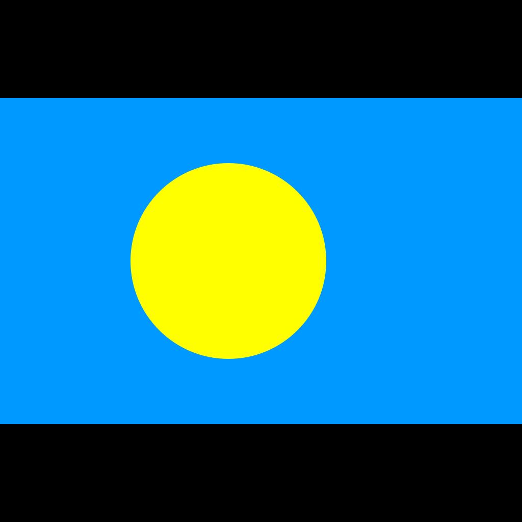 Republic of palau flag icon