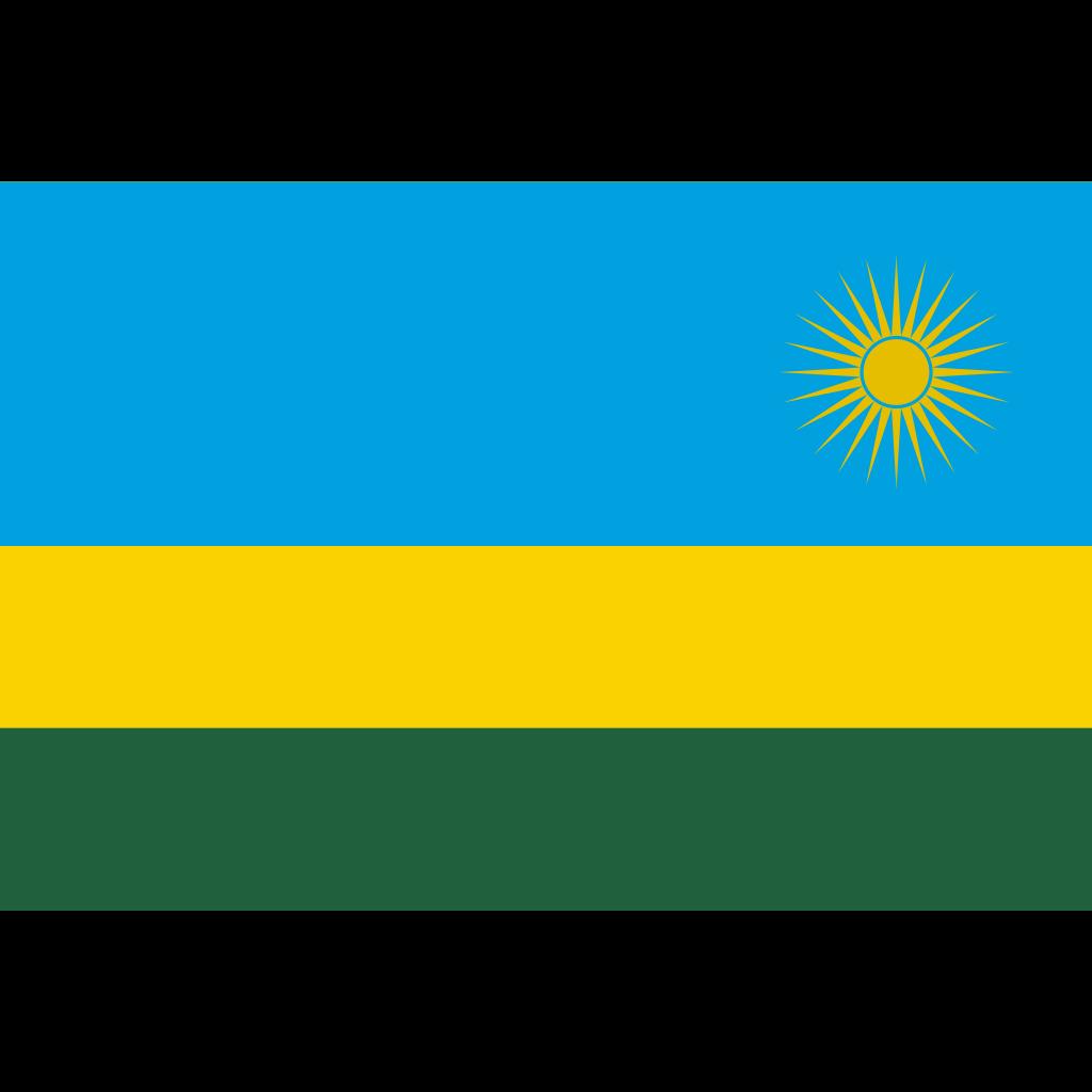 Republic of rwanda flag icon