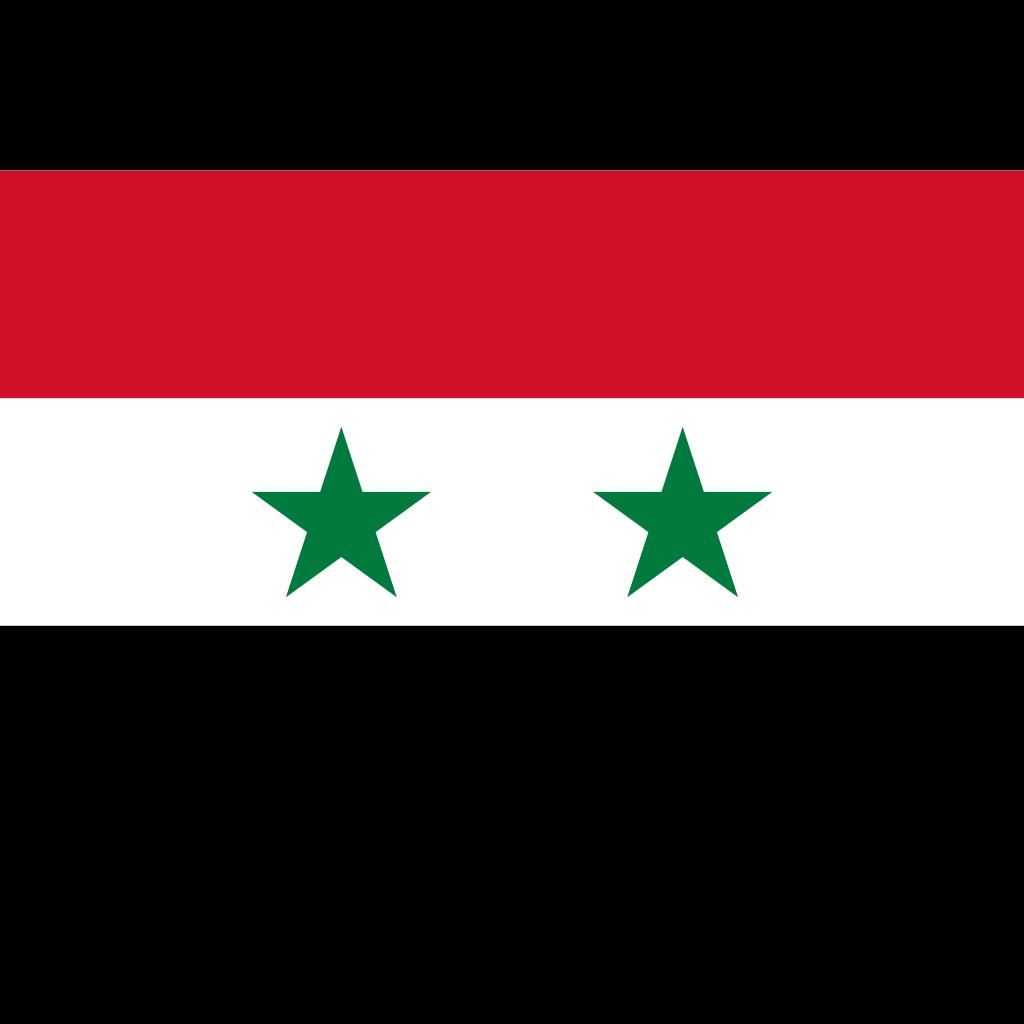 Syrian arab republic flag icon