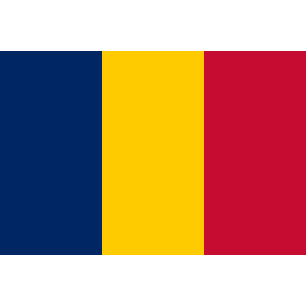 Republic of chad flag icon