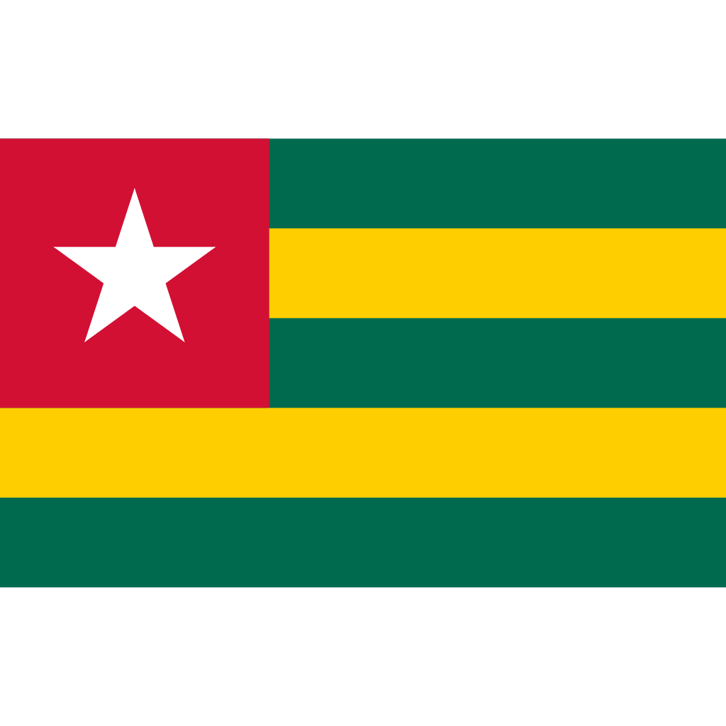 Togolese republic flag icon