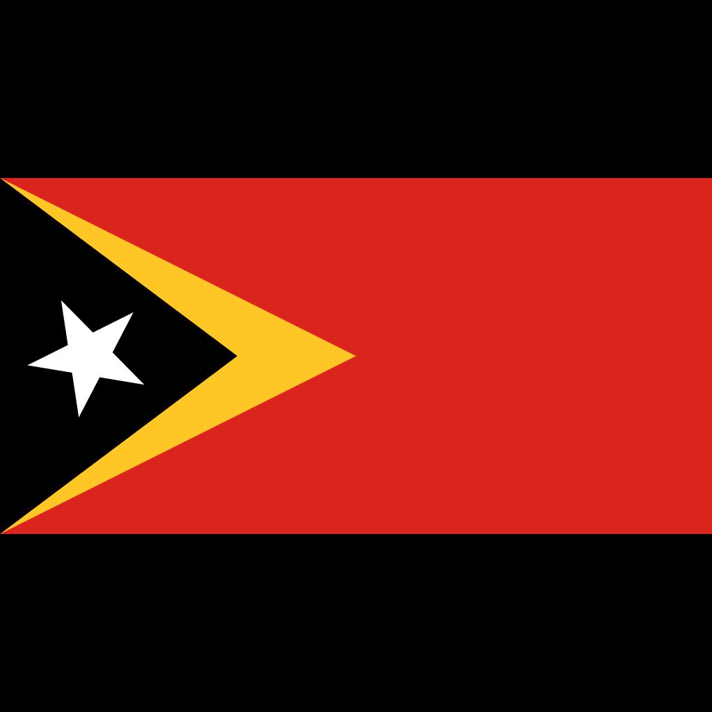 Democratic republic of timor-leste flag icon