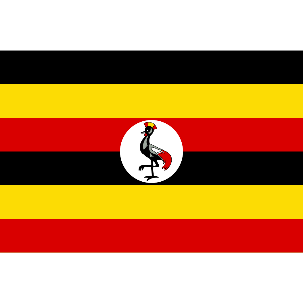 Republic of uganda flag icon