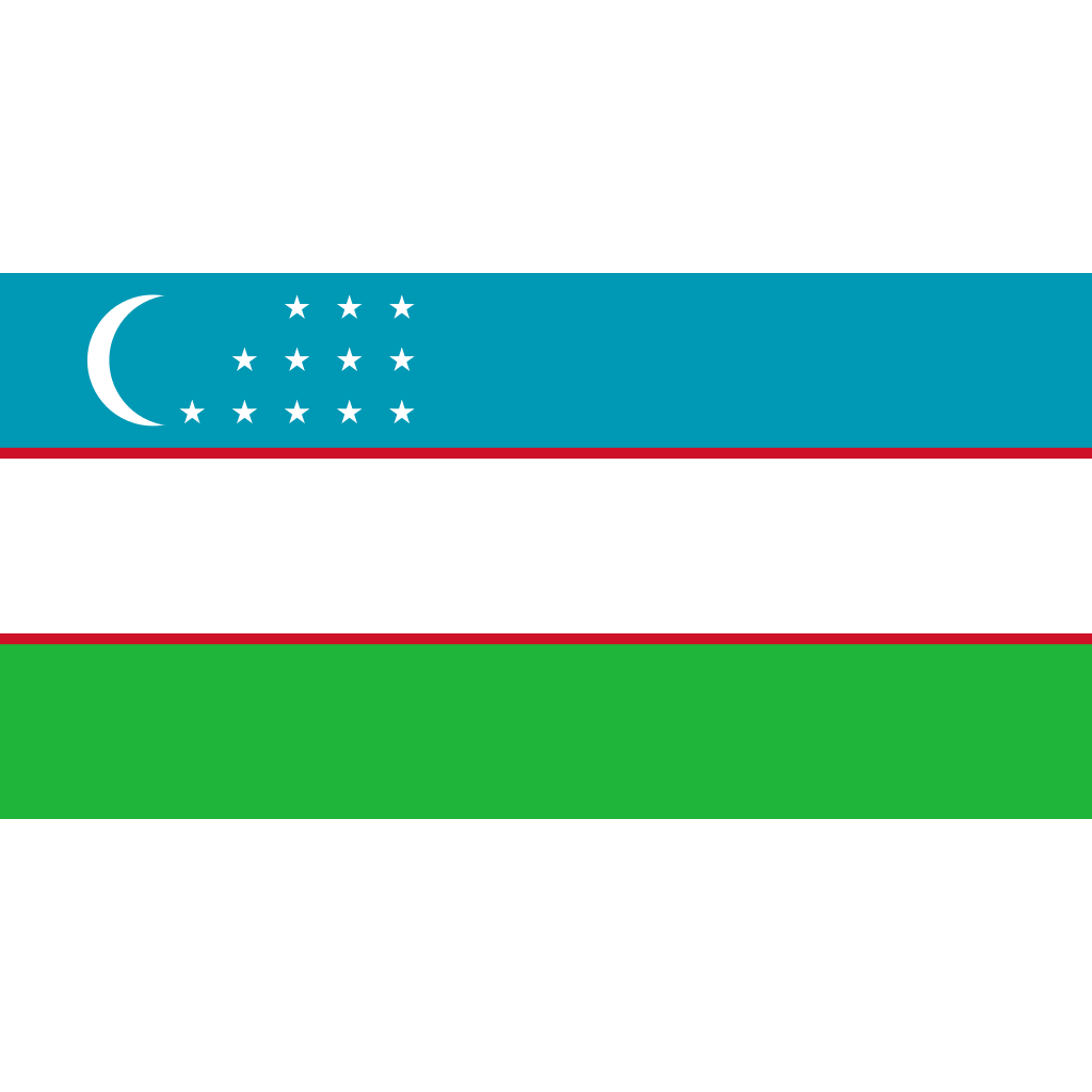 Republic of uzbekistan flag icon