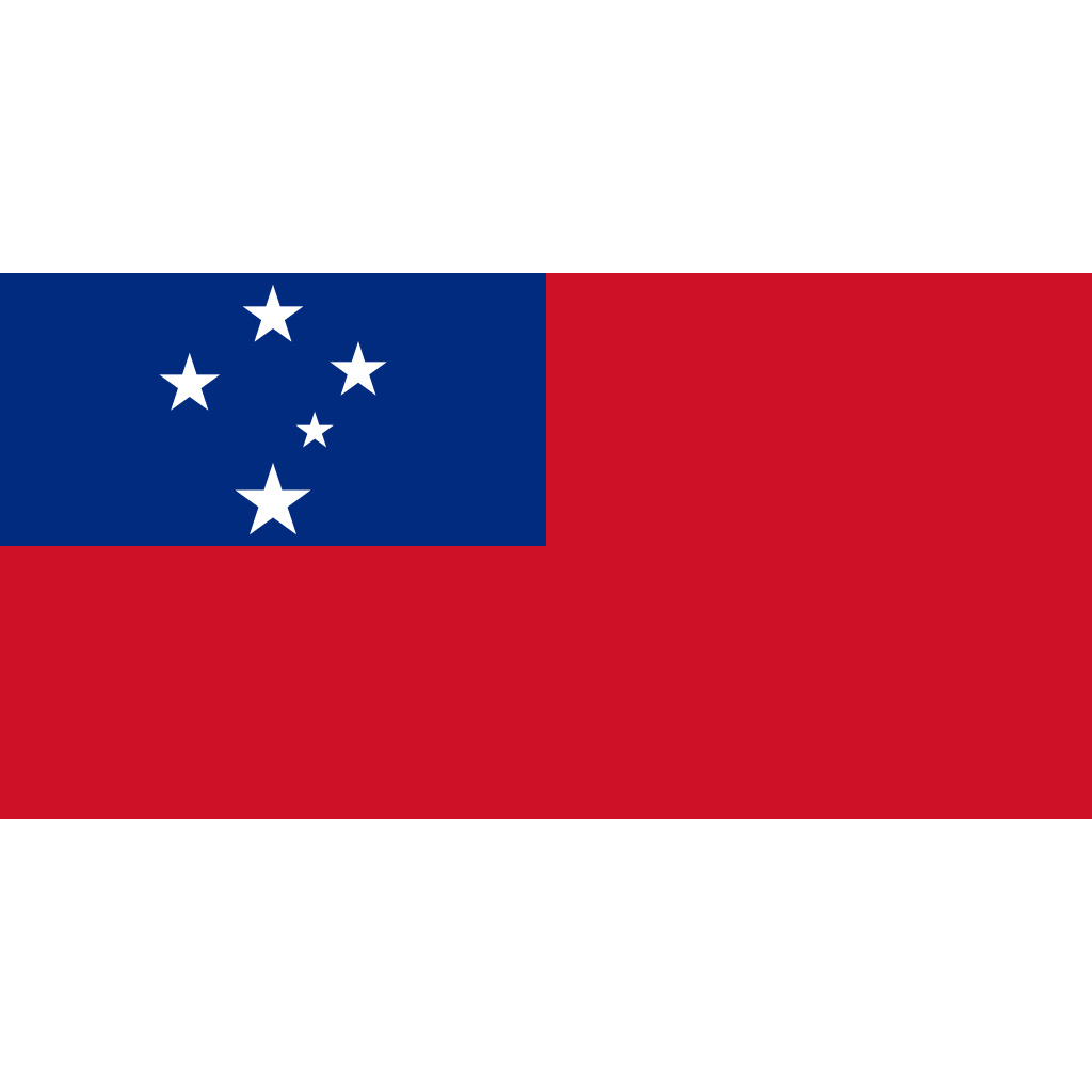 Independent state of samoa flag icon