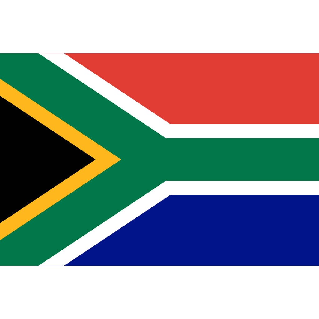 Republic of south africa flag icon