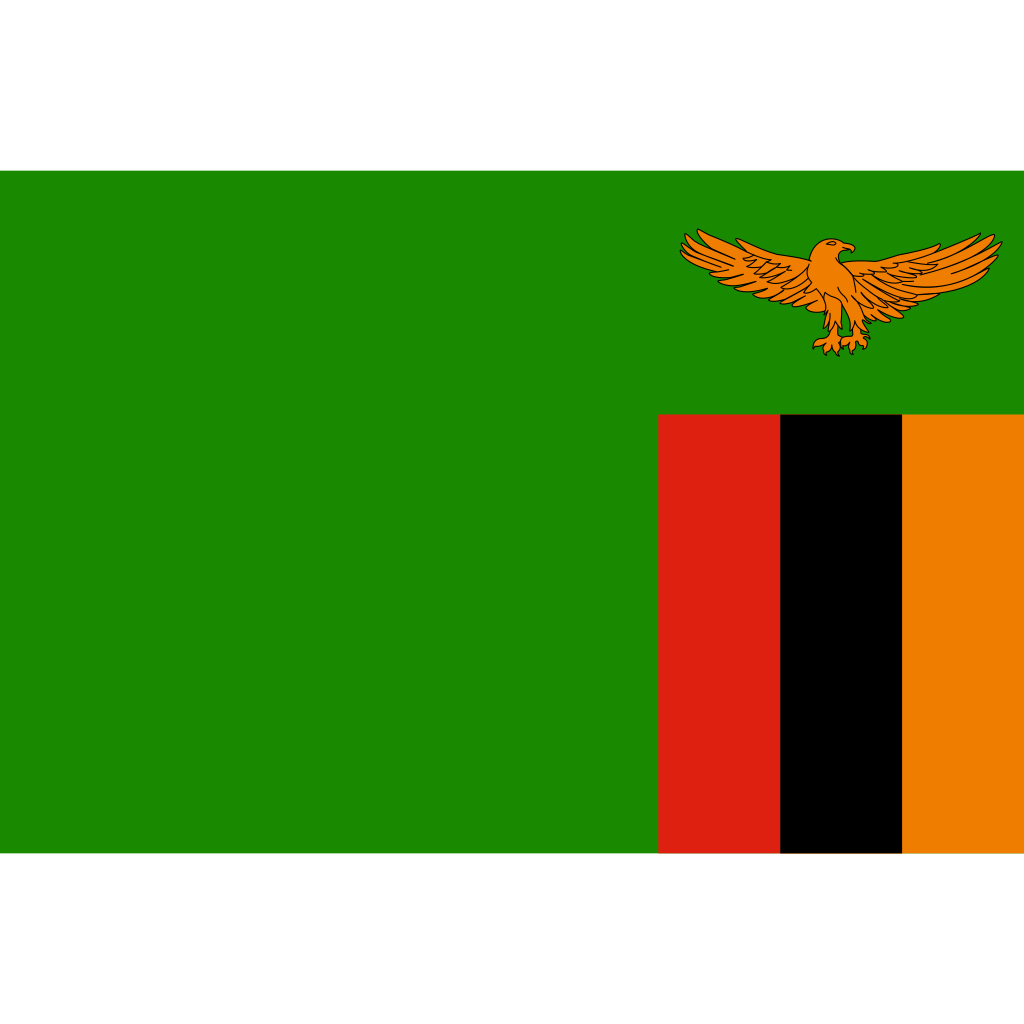 Republic of zambia flag icon