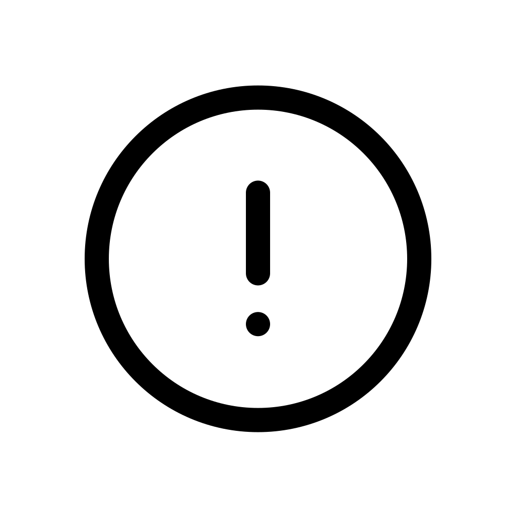 Alert circle icon