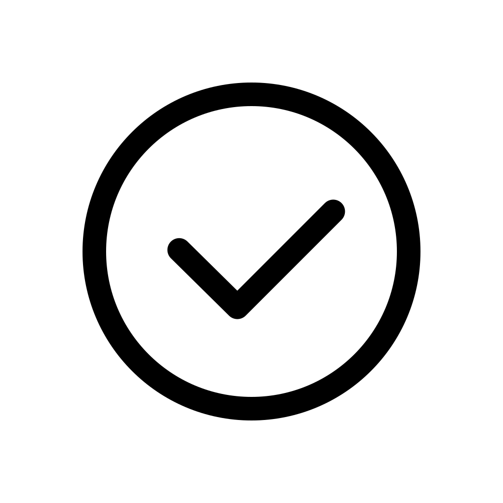 Check mark round icon