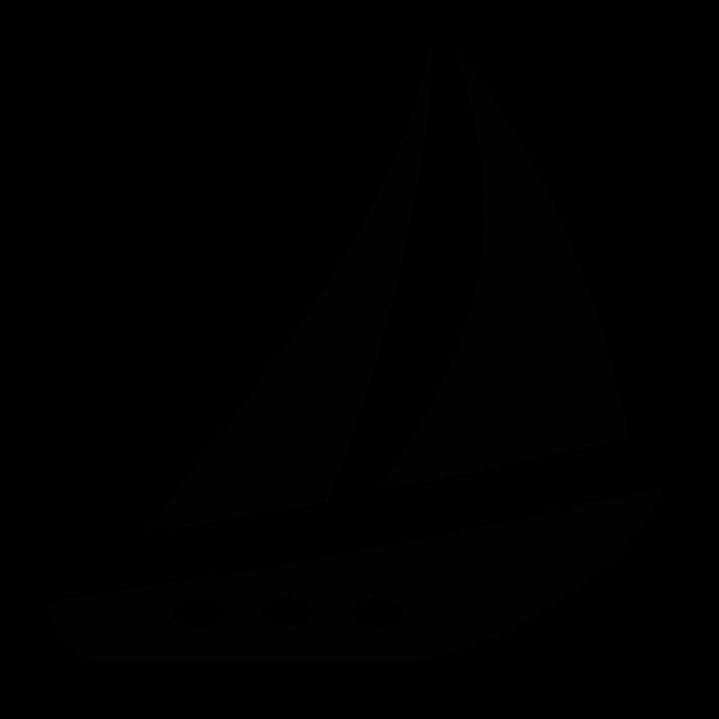 Yacht sail boat icon