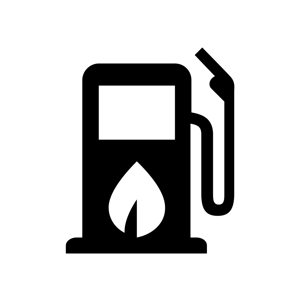 Bio fuel station icon