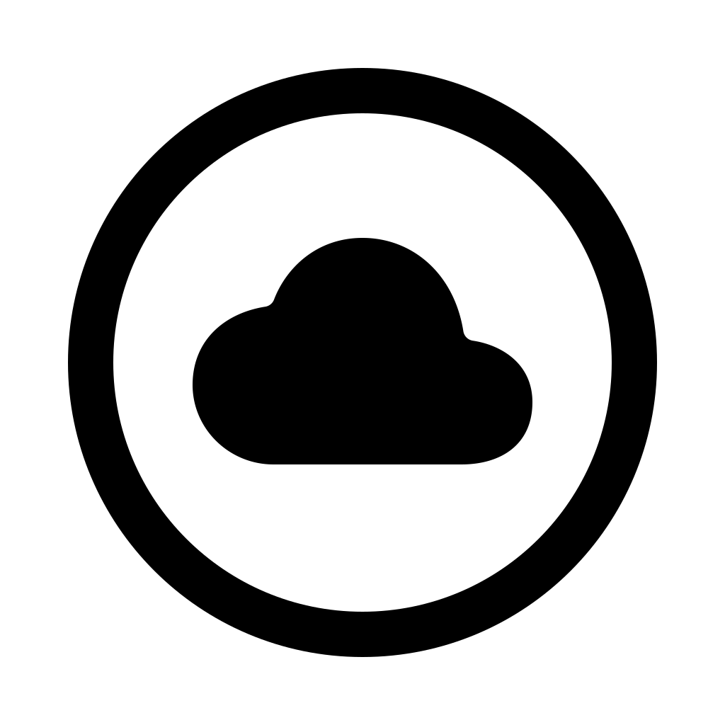 Cloud circle icon